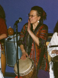 Zenobia, digging the drum